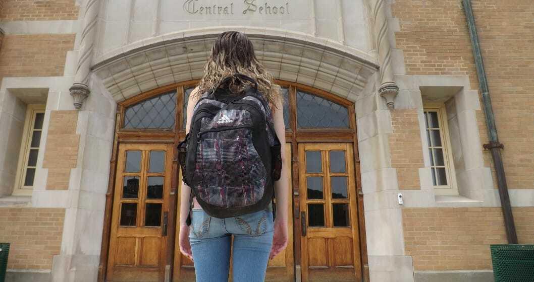 Student entering school