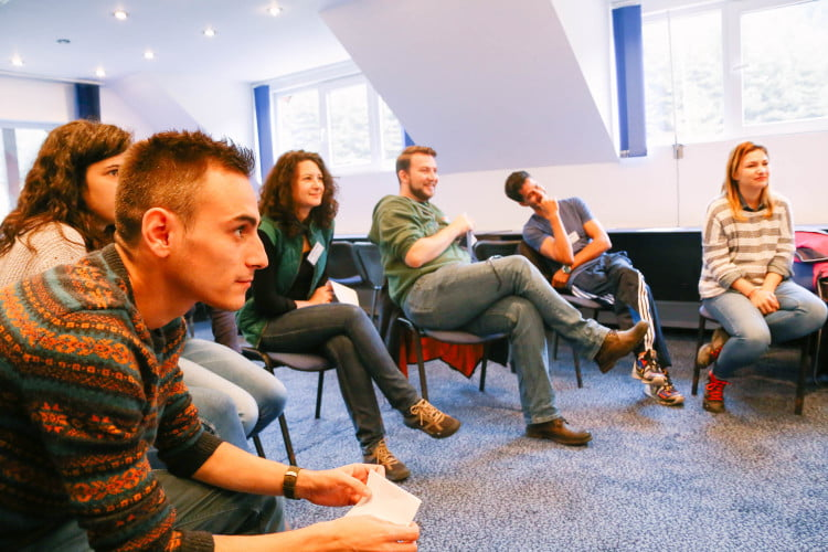 Participants in an Interactive Workshop